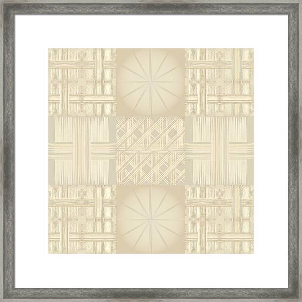 Wicker Quilt Framed Print
