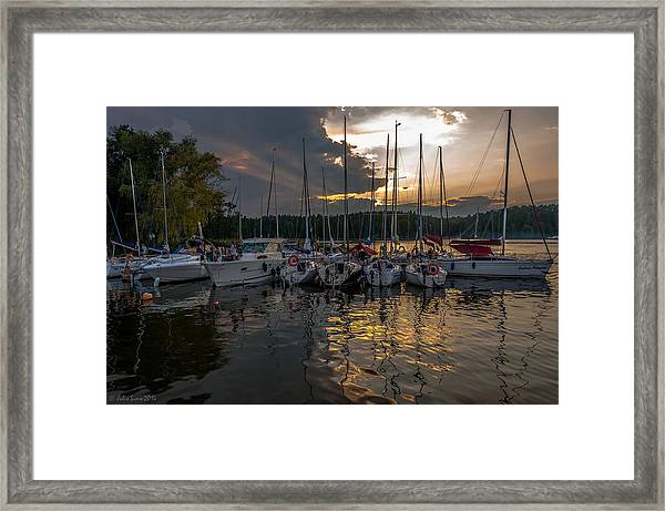 Wierzba Yacht Marina In The Afternoon Framed Print