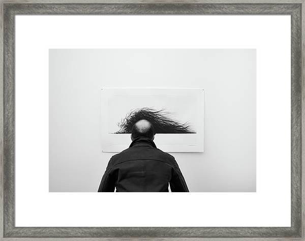 Wig Framed Print