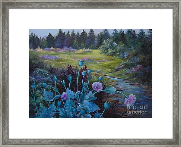 Wild Garden Framed Print by Jean  Yanowski