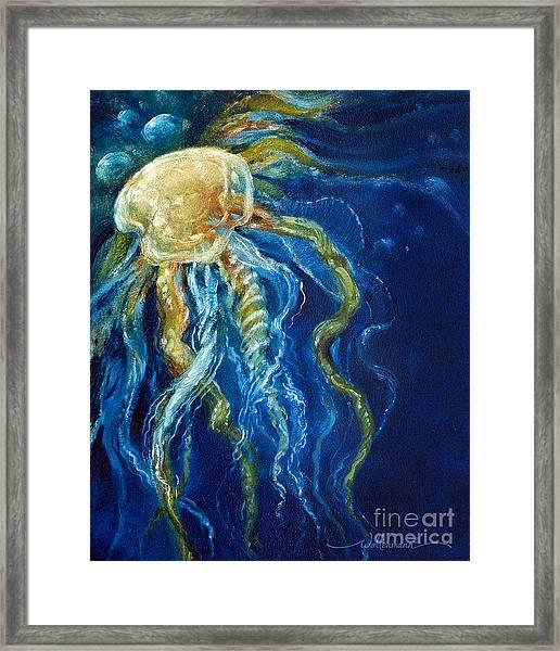 Wild Jellyfish Reflection Framed Print