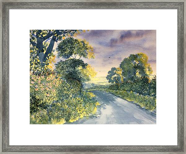 Wild Roses On The Wolds Framed Print