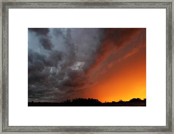 Wild Storm Clouds Over Yorkton Framed Print