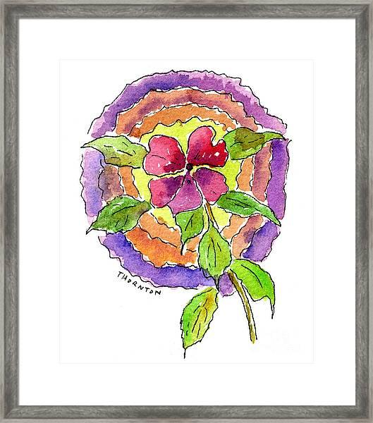 Wild Wildflower Framed Print