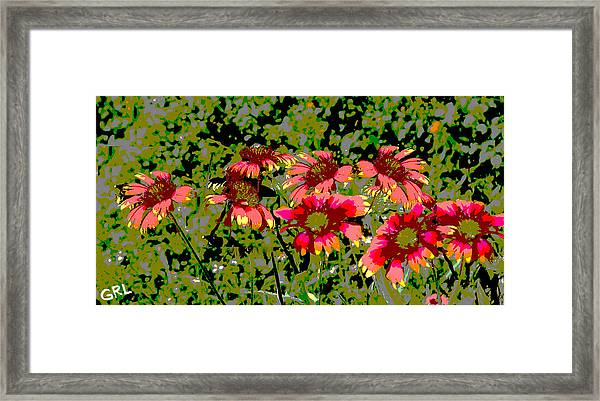 Framed Print featuring the painting Wildflowers IIi Florida Contemporayary Digital Art by G Linsenmayer