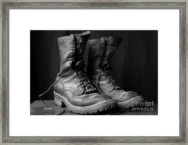 Wildland Fire Boots Still Life Framed Print
