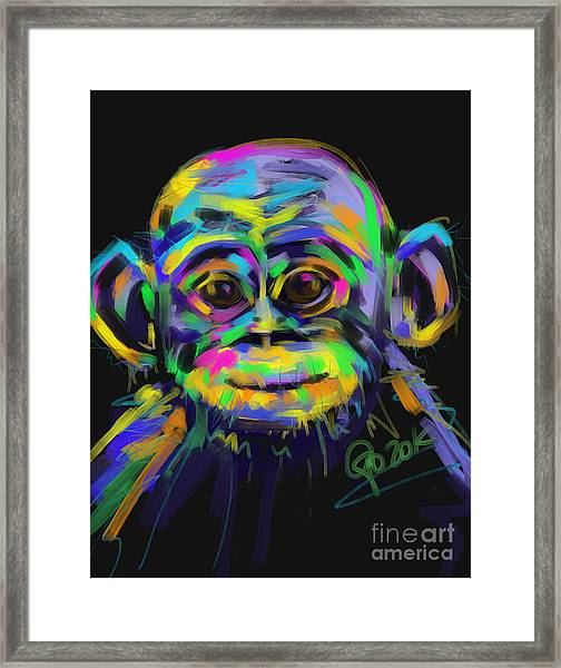Wildlife Baby Chimp Framed Print