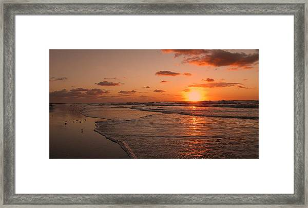 Framed Print featuring the photograph Wildwood Beach Sunrise II by David Dehner