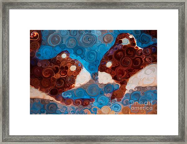 Will You Be My Beaver Framed Print