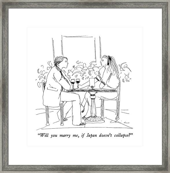 Will You Marry Framed Print