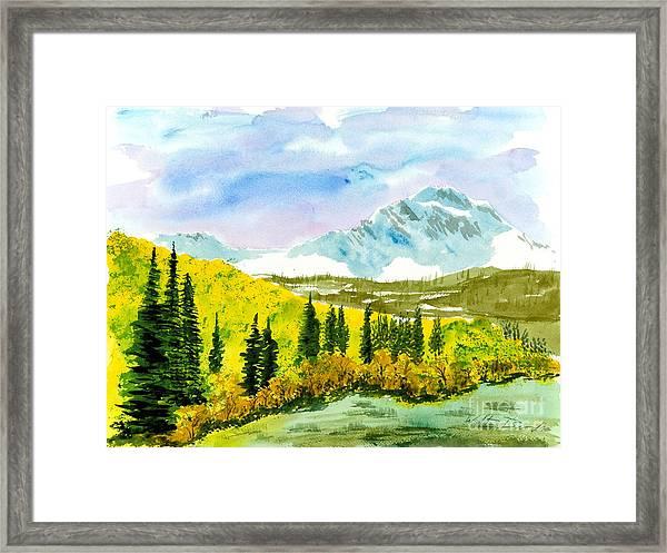 Willard Peak Framed Print