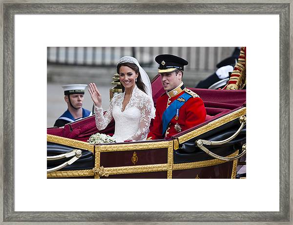 William And Kate Royal Wedding Framed Print