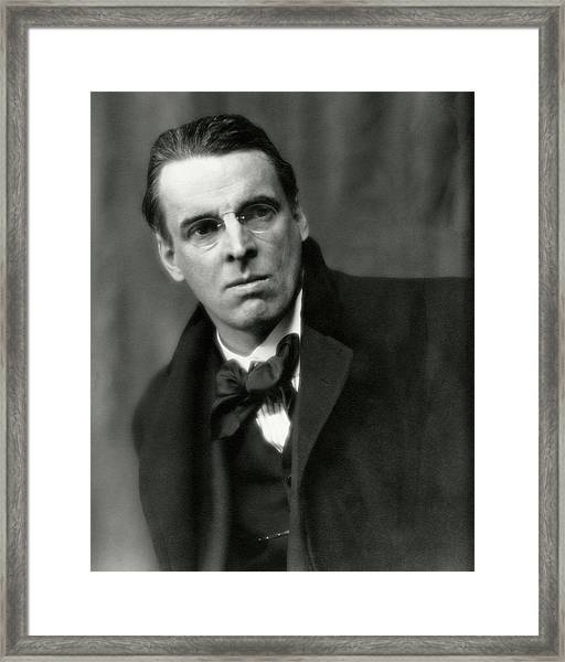 William Butler Yeats Wearing A Bowtie Framed Print