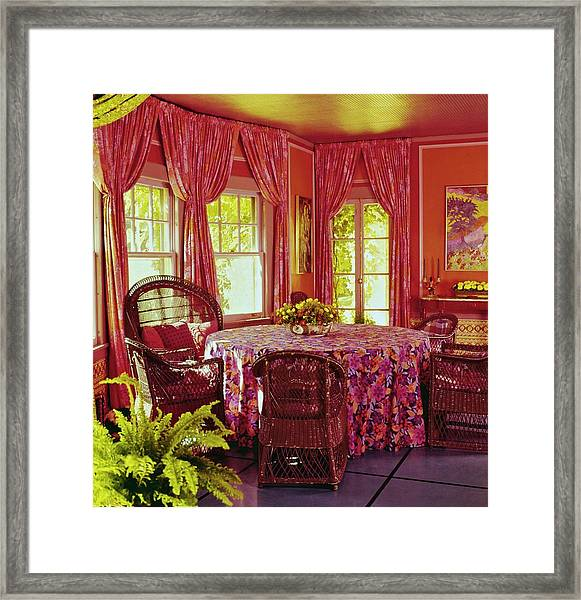 William F. Buckley Jr.'s Dining Room Framed Print