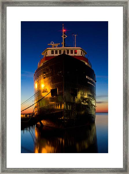 William G. Mather Maritime Museum Cleveland Ohio Framed Print