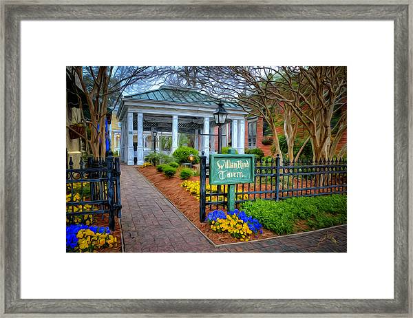 Framed Print featuring the photograph William Rand Tavern At Smithfield Inn by Williams-Cairns Photography LLC