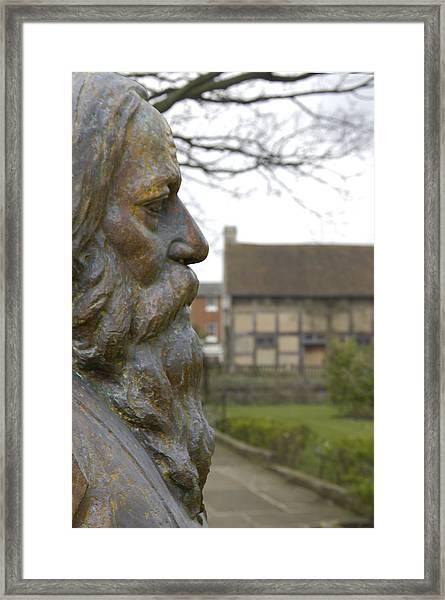 William Shakespeare Home Framed Print