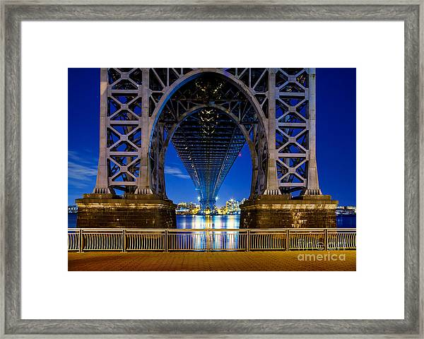 Blue Punch Framed Print