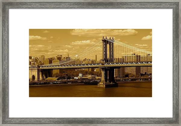 Williamsburg Bridge New York City Framed Print