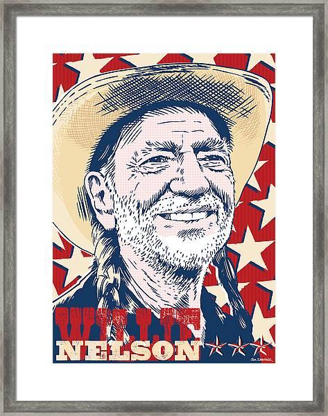 Willie Nelson Pop Art Framed Print