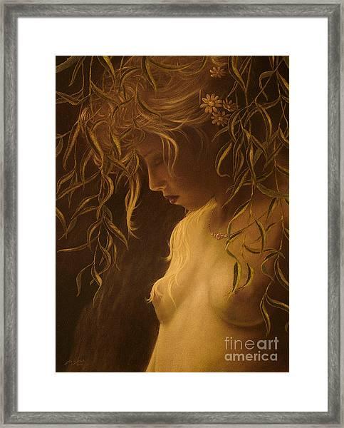 Willow Girl Framed Print