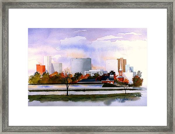 Wilmington Resevoir Skyline Framed Print