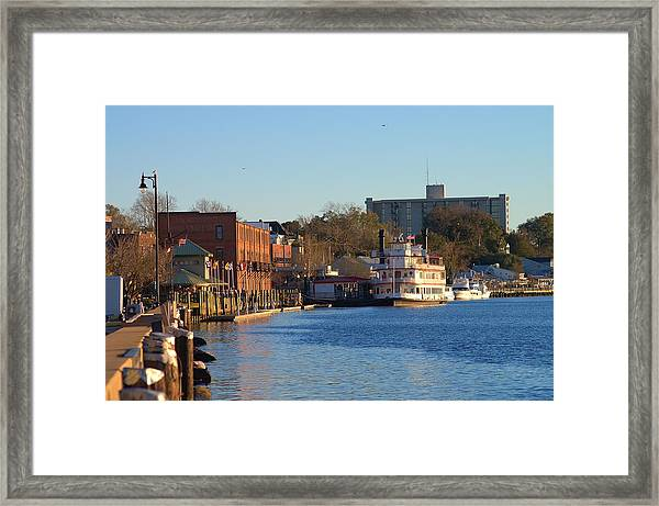 Wilmington River Front At Sunset January 2014 Framed Print
