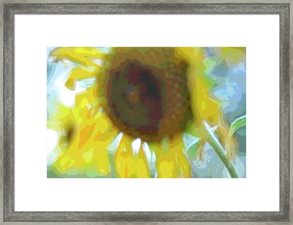 'wilted' Abstract Framed Print