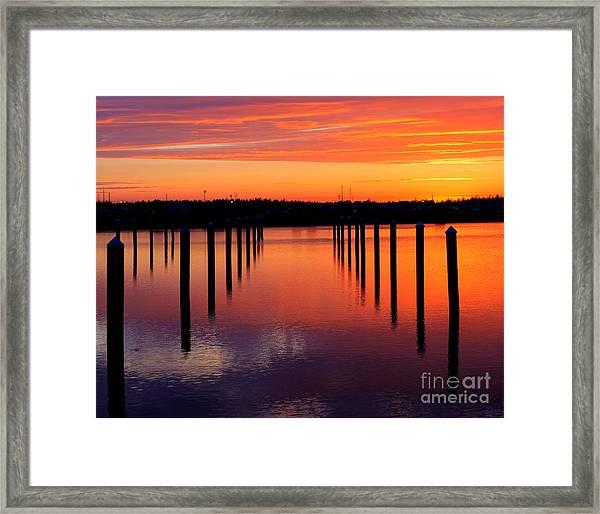 Winchester Bay Sunset Framed Print