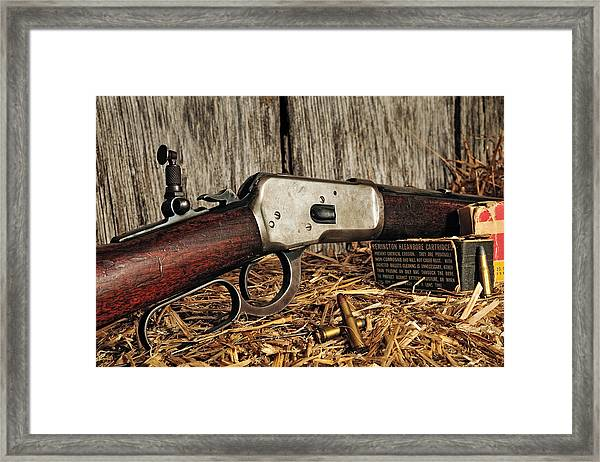 Winchester Lever Action Framed Print
