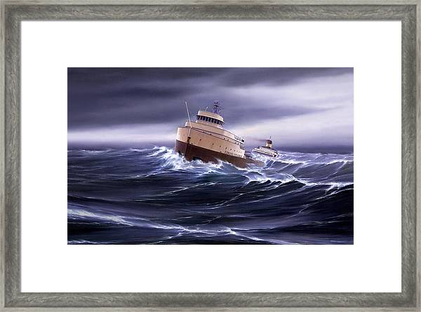 Wind And Sea Astern Framed Print