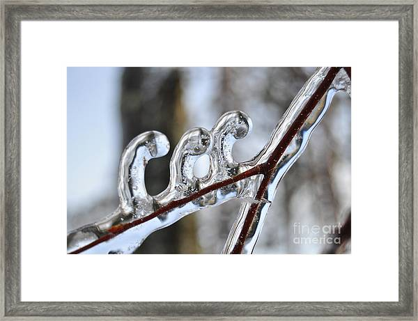 Wind-blown Icicles Framed Print