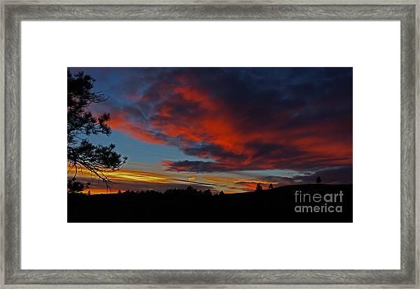 Black Hills Sunset Framed Print