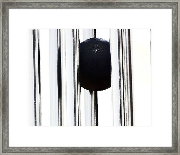 Wind Chime In Black And White Framed Print