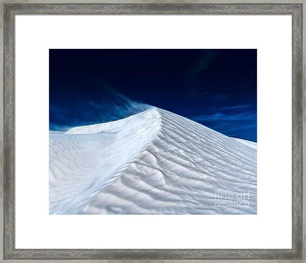 Wind Over White Sands Framed Print