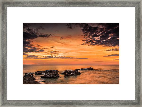 Wind Point Sunrise Framed Print