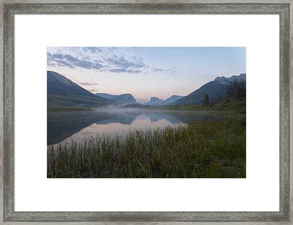 Framed Print featuring the photograph Wind River Morning by Dustin  LeFevre