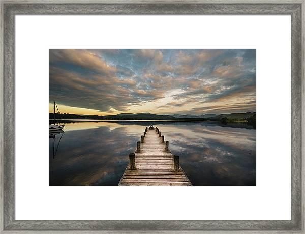 Windermere At Dawn Framed Print