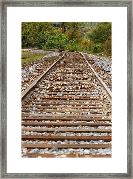 Winding Rails Framed Print by Heather Roper