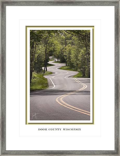 Winding Road Door County Framed Print