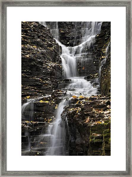 Winding Waterfall Framed Print