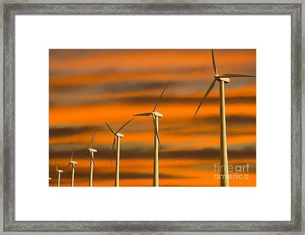 Windmill Farm Framed Print
