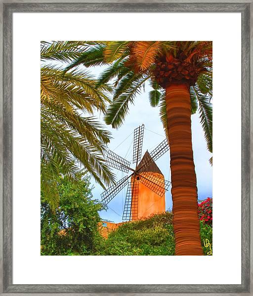 Windmill In Palma De Mallorca Framed Print