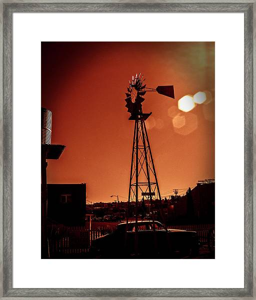 Framed Print featuring the photograph Windmill On Route66 by William Havle