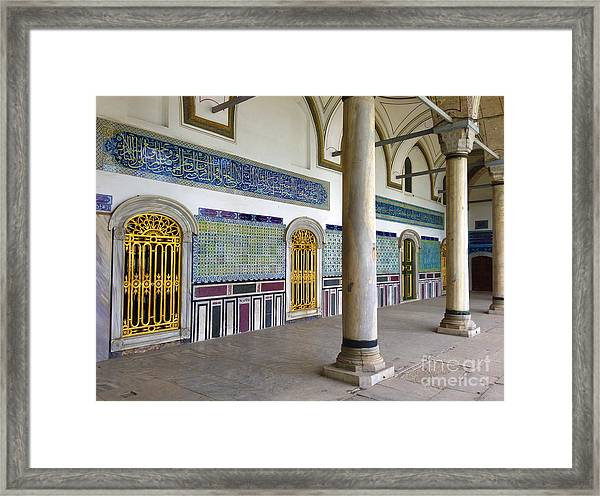 Window Of The Chamber Of The Holy Mantle In The Topkapi Palace Istanbul Turkey Framed Print by PIXELS  XPOSED Ralph A Ledergerber Photography