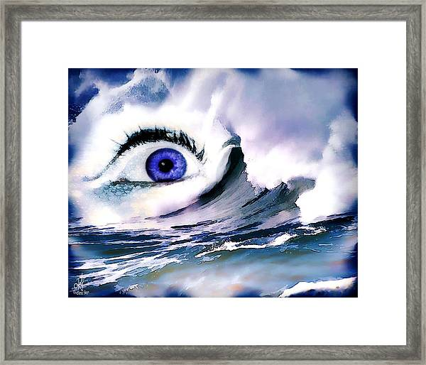 Window Of Your Soul Framed Print