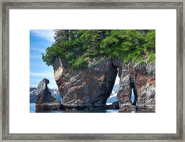 Window Rock Framed Print
