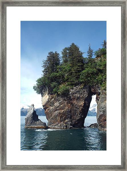 Framed Print featuring the photograph Window Rock by Barbara Von Pagel
