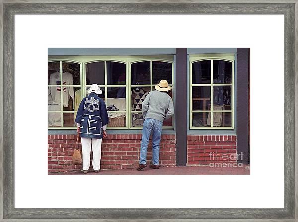 Window Shoppers Framed Print
