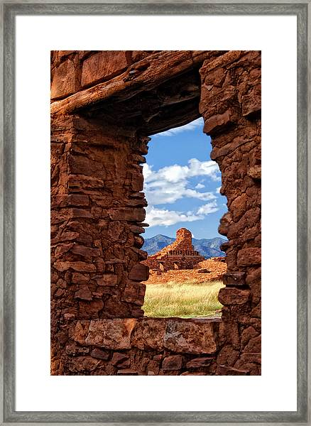 Window To Abo Framed Print